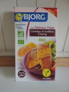 Délicieux Palets Céréales lentilles curry Bjorg